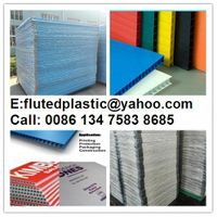 2mm-12mm PP corrugated sheet for floor protection printing packing