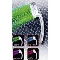 Digital Water Temperature Visualizer Chromed Stainless Steel Shower Head thumbnail image