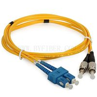 SC/UPC to FC/UPC Duplex Single Mode Fiber Optic Patch Cable
