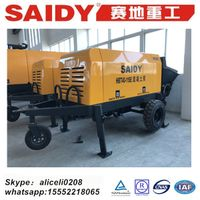 trailer and portable concrete delivery machine