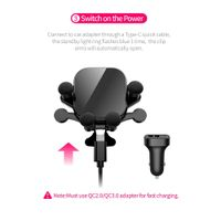 15W Wireless Car Charger Air Vent Phone Holder PM-C6 thumbnail image