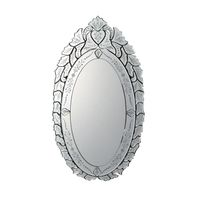 Glass Beveled Classic Deco Venetian Mirror, Unique Vintage Wall Decoration Mirror, Big Old Art Craft thumbnail image