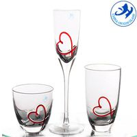 Mouthblown Valentine's Day wine glass