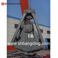 four rope mechanical dredge clamshell grab underwater
