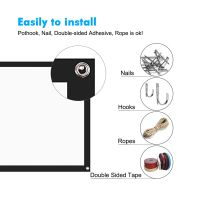 """100"""" 16:9 Matte White Projection Screen for Projector Uses thumbnail image"""