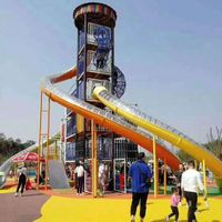 Adventure Large Spiral Slides Customized Outdoor Playground System Theme Amusement Park Equipment