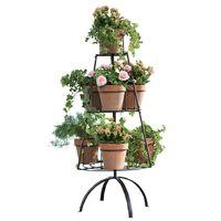 Display Rack, Carousel Flower Pots Display Stand thumbnail image