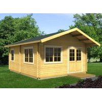 Low cost wooden frame small log cabin & nice wood villa