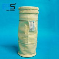 Needle punched glass fiber dust filter bag