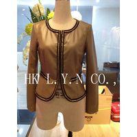 leather ladies short jacket PU jacket