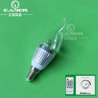3W remote control e14 led candle thumbnail image