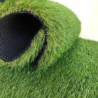 Soft feel Natural colour PE artificial turf grass for landscaping use thumbnail image