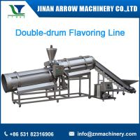 Double-drum flavoring line