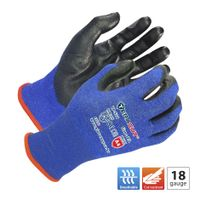 18 gauge Blue TERACUT® liner black Premium PU palm coated gloves (Working Protection Glove TP-521) thumbnail image