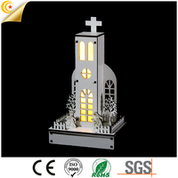 wood chapel christmas bridge light wood lighted chapel xmas decor