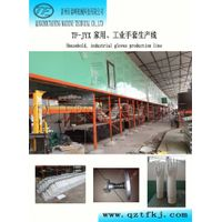 Household, industrial gloves production line