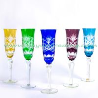 Delicate Hand Engraved Long-stem Glass Champagne Flute for Wedding And Party thumbnail image