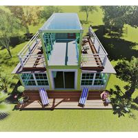 Expandable container cabin with sun house thumbnail image