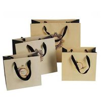 Paper Shopping Bag with Handle/Brown Kraft Paper Bag