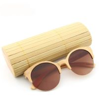 Bamboo Sunglasses Semi-Rimless R-Ban Inspired