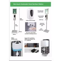 Automatic Hands-Free Soap Dispenser with Floor Stand/ Heavy Duty Liquid/Gel Hand Sanitizer Soap Disp thumbnail image