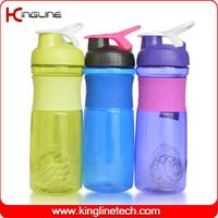 750ml plastic protein shaker bottle with stainless blender ball  (KL-7063