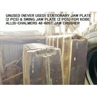 GENUINE PARTS OF STATIONARY JAW PLATE & SWING JAW PLATE