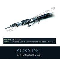 Air Body Saw & Files W/2pcs Saw Blade,Pneumatic Tools