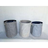Amazon hot sell Foldable Woven Paper Laundry Hamper Basket Organizer Bag Foldable Laundry Basket thumbnail image