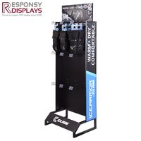 Wholesale Custom Floor Standing Gloves Metal Rack for Advertising