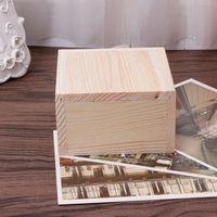 Custom Logo Painted wooden box packing Wooden display packaging stockpile transport box thumbnail image