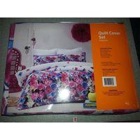 100% polyester duvet set pigment printing quilt cover set