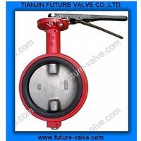 No Ear Wafter Type Butterfly Valve with Two Stems (D71X) thumbnail image