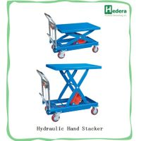 300kg Hot Sale Hand cranking Manual Hydraulic Mechanical Scissor Lift Table