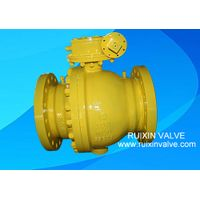 API 6D2piece Trunnion Mounted Casting Steel Flanged End Ball Valve With GearBOX