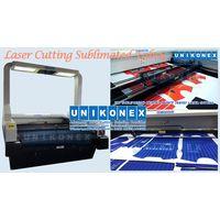 Laser cutting sublimated fabrics