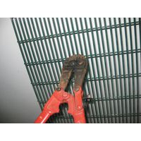 Power coated welded mesh 358 security fence panel
