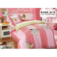 """Breathable cloth"" Hand woven 100% cotton bedding sets 4pcs zz4005"