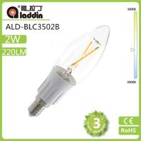 New Model! 3W Clear LED Filament Bulb 14 350LM Incandescent bulb replacement