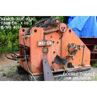 "USED KEMCO KUE-KEN MODEL F80N (36"" X10"") DOUBLE TOGGLE JAW CRUSHER S/NO. 4018 WITHOUT MOTOR FOR SALE thumbnail image"