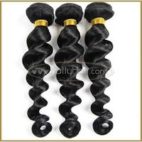 6A Loose wave Brazilian virgin hair 3pcs Unprocessed