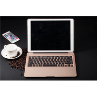 High quality totally aluminium alloy keyboard cover with 7color backlit bluetooth keyboard