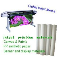 Nonwoven paper for water based inks