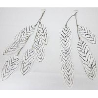 Zebra printed feather earrings-fashion accessories