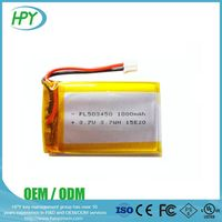 503450 rechargeable cheap low voltage 3.7v 900mah lipo batteries for digital video device