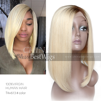 ombre blonde virgin hair lace front wig thumbnail image