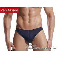2015 Hot Selling Veni Masee New Design Fashion Sexy Ice Silk Bikini Briefs Men Underwear OEM/ODM Man