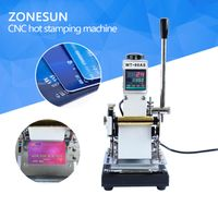 ZONESUN Best Quality 220V/110V Manual Hot Foil Stamping Machine Card Tipper Embossing Machine thumbnail image