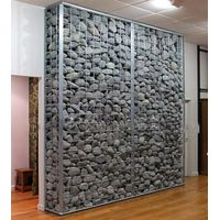 Decorative strong used wire gabion wall, stone wall