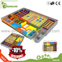 Cheap Kids indoor Bungee Jumping commercial Trampoline for sale thumbnail image